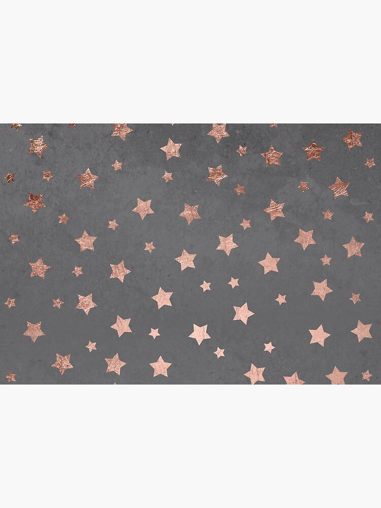 rose gold Christmas stars geometric pattern cement by GirlyTrend