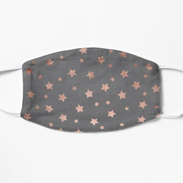 rose gold Christmas stars geometric pattern cement Mask