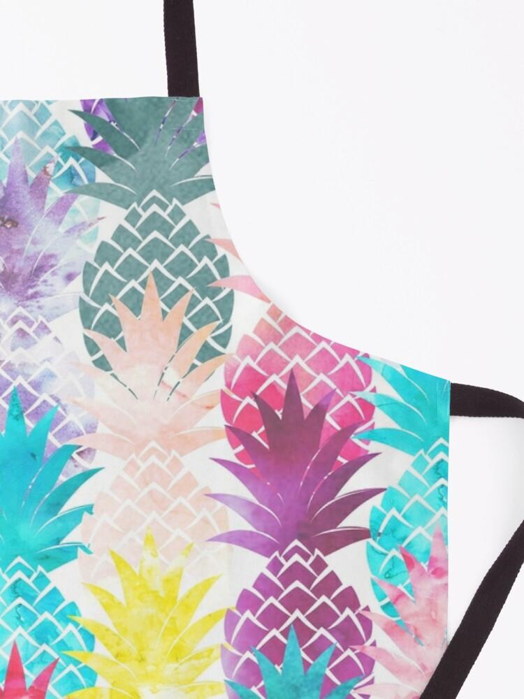 Alternate view of Hawaiian Pineapple Pattern Tropical Watercolor Apron
