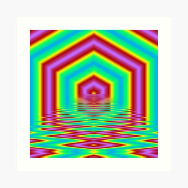 Soleil Hexagonal Impression artistique