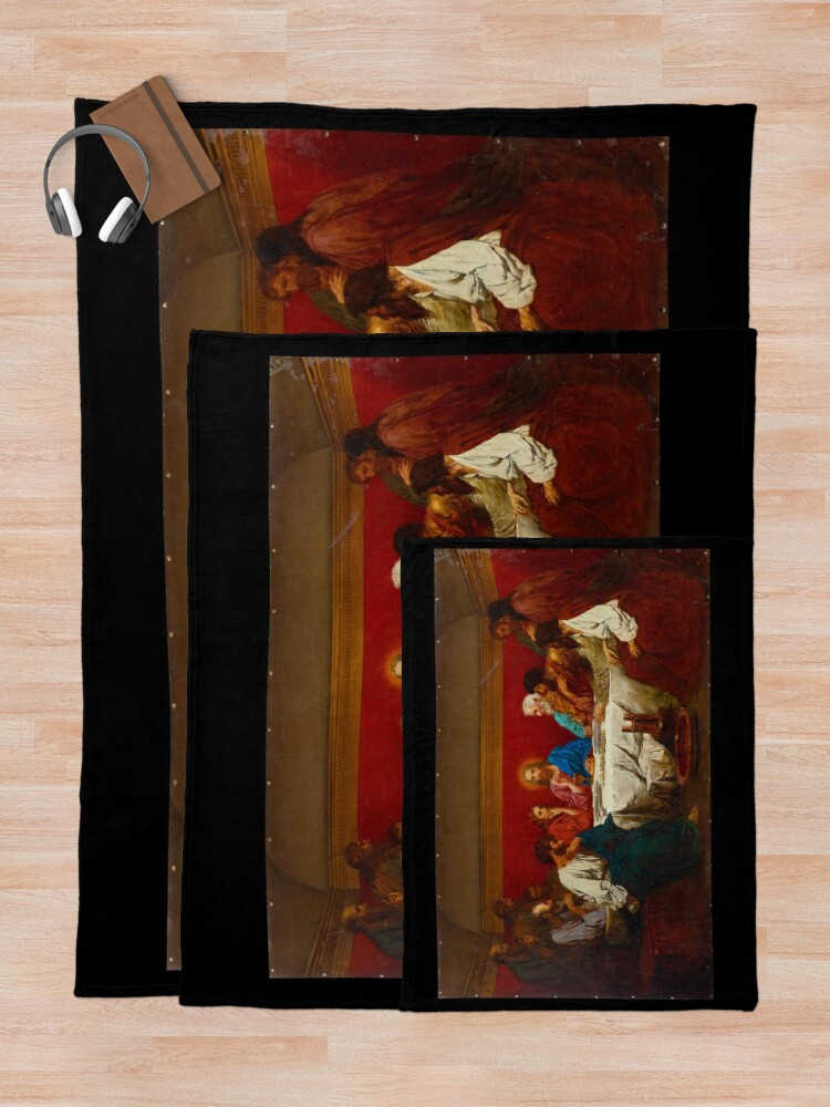 Alternate view of Last Supper -  Henryk Siemiradzki - c1876 Throw Blanket