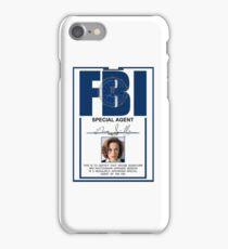 dana scully badge iPhone Case/Skin