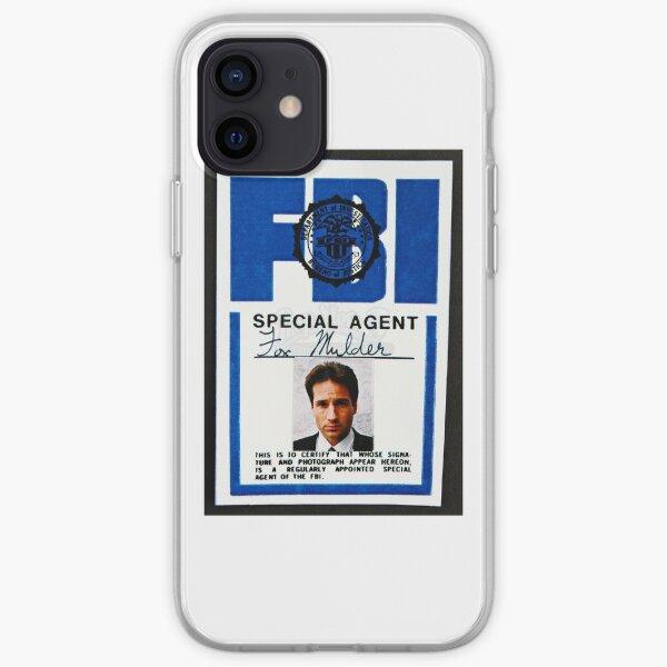 fox mulder badge iPhone Soft Case