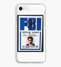 fox mulder badge iPhone Case/Skin