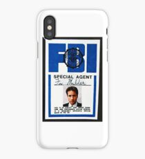 fox mulder badge iPhone Case