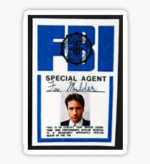 fox mulder badge Sticker