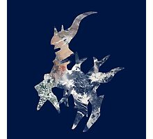Arceus Earth Silhouette Photographic Print