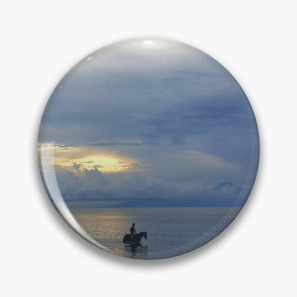 HORSE AND WOMAN AT BEACH Pin