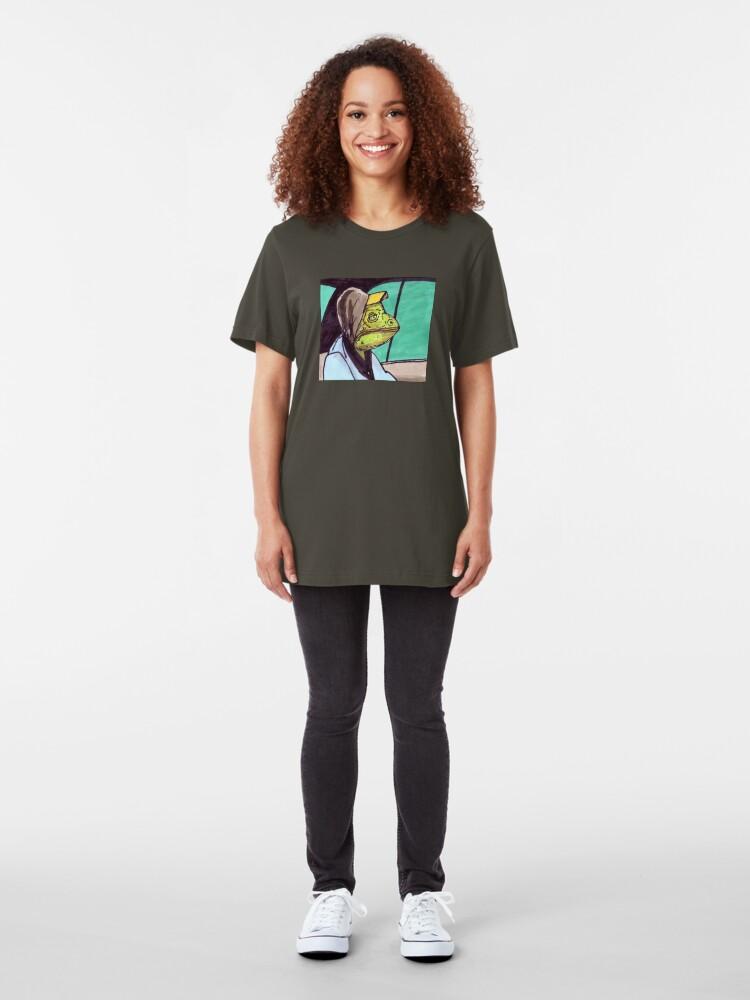 Alternate view of Cab Hoodie Lizard Slim Fit T-Shirt