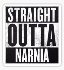 Straight Outta Narnia Sticker
