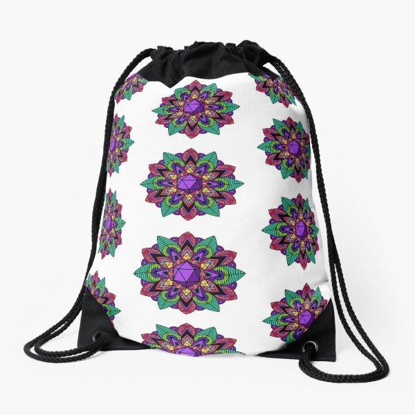 Mollymauk mandala Drawstring Bag