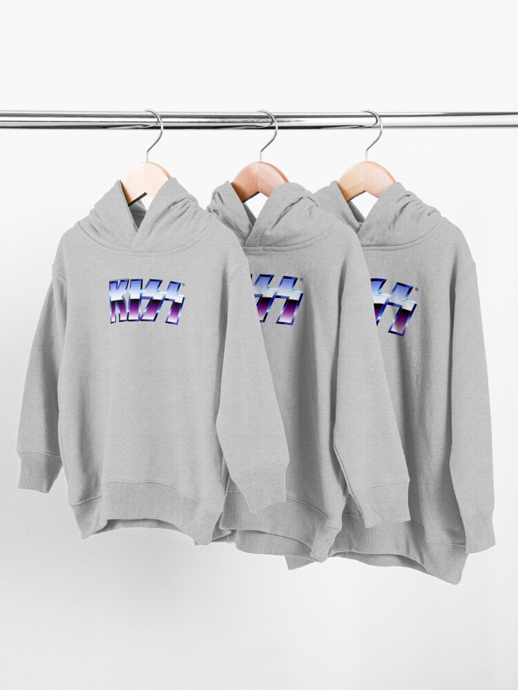Alternate view of Kiss Logo Chrome Toddler Pullover Hoodie