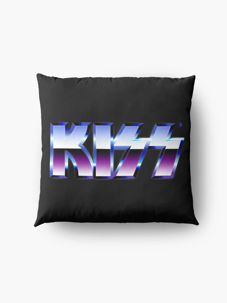 Alternate view of Kiss Logo Chrome Floor Pillow