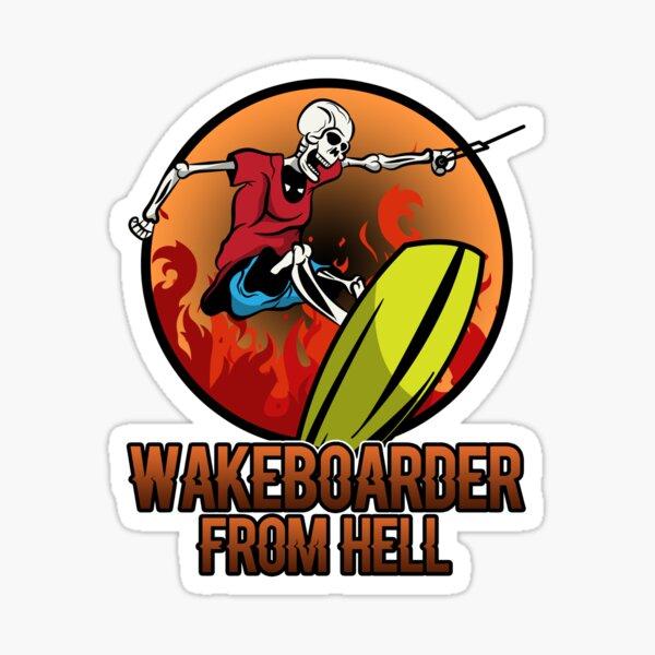 Cadeau Wakeboard Wakeboard Halloween Zombie Sticker
