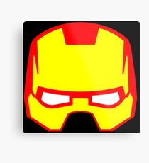 Super hero mask (Iron man) Metal Print