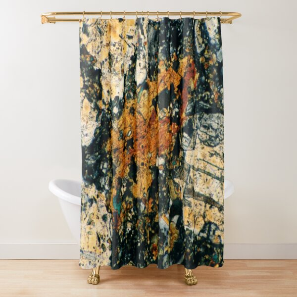 Feldspar Mineral Photograph Shower Curtain