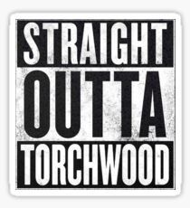 Straight Outta Torchwood Sticker