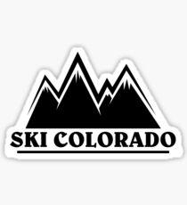 Ski Colorado Mountain Outline Sticker