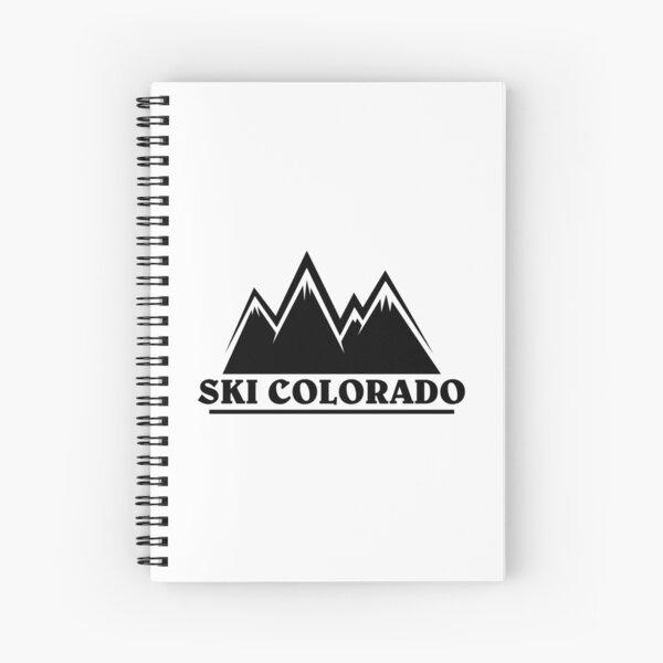 Ski Colorado Mountain Outline Spiral Notebook