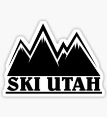 Ski Utah Mountain Outline Sticker