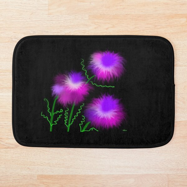 Bright and beautiful collection,  pink flowers Bath Mat