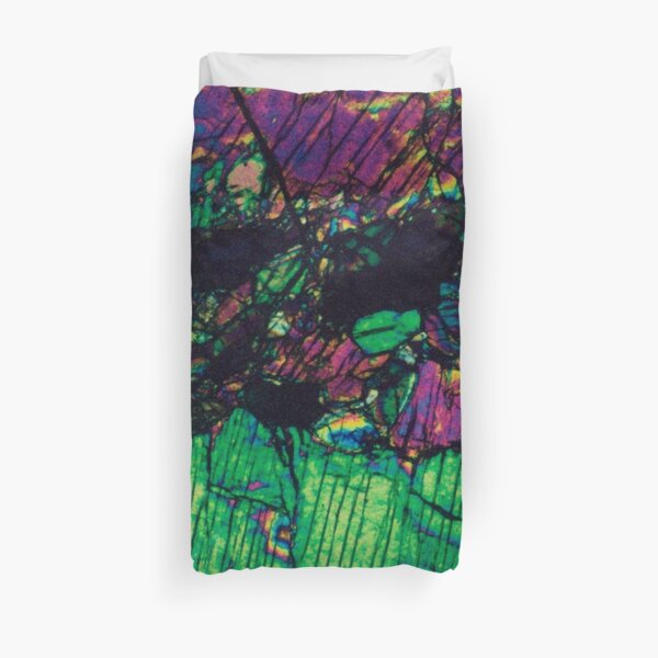 Pyroxene Crystals - Thin Section Photography Duvet Cover
