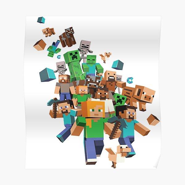 Minecraft Roblox Póster