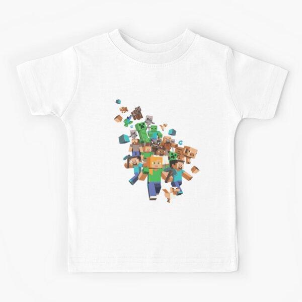 Minecraft Roblox Camiseta para niños