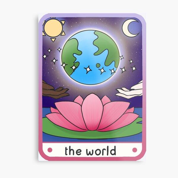 The World Modern Tarot Card Design Metal Print