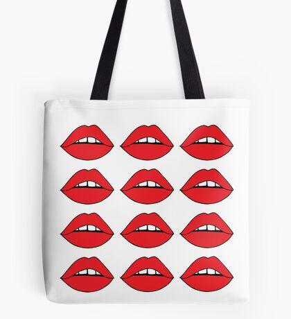 Rote Lippen Tote Bag