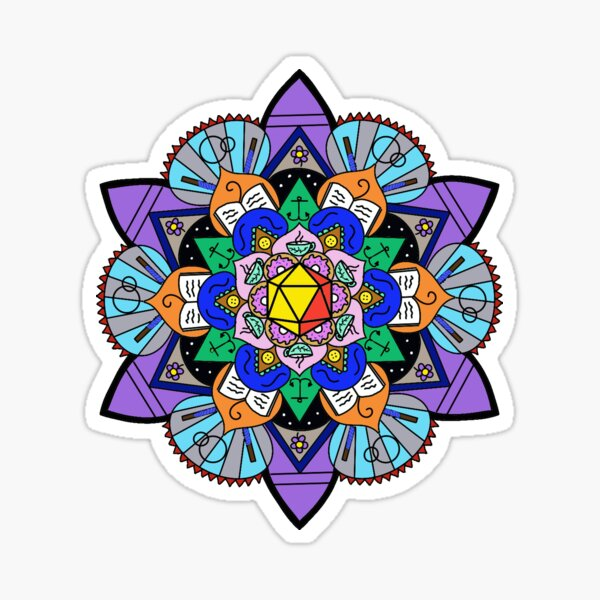 The Mighty Mandala Sticker