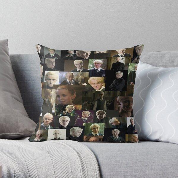 Draco Malfoy collage Throw Pillow