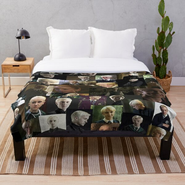 Draco Malfoy collage Throw Blanket