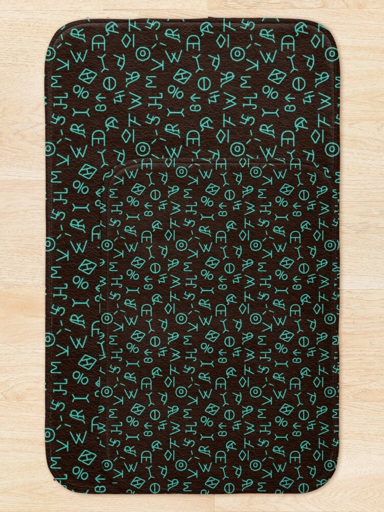Alternate view of Turquoise Ranch Brands Bath Mat