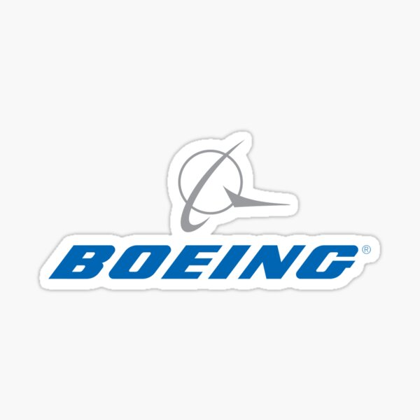 Boeing sticker logo plane Sticker