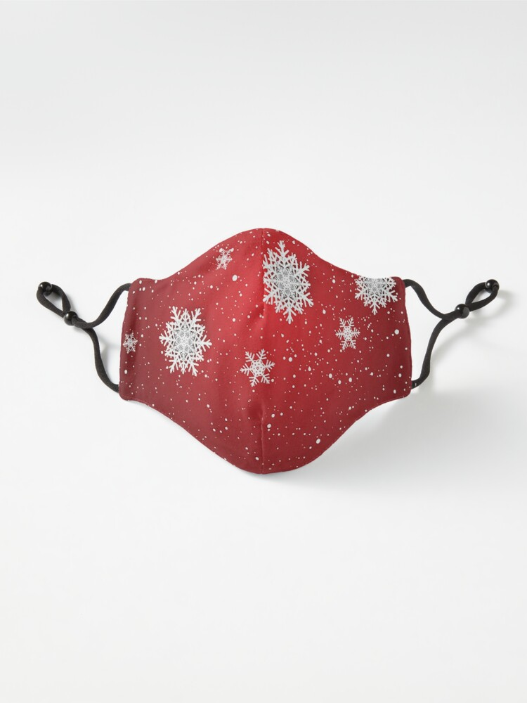 Alternate view of Snowflakes Mask