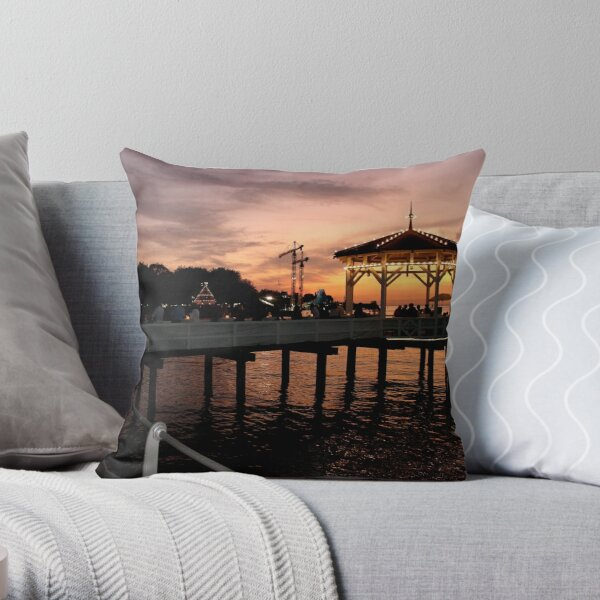 Sunset over Lake Constance-Bodensee Throw Pillow