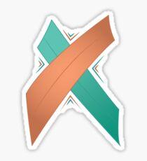 Letter X Sticker