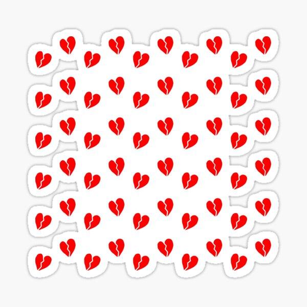 Broken Heart Pattern Sticker