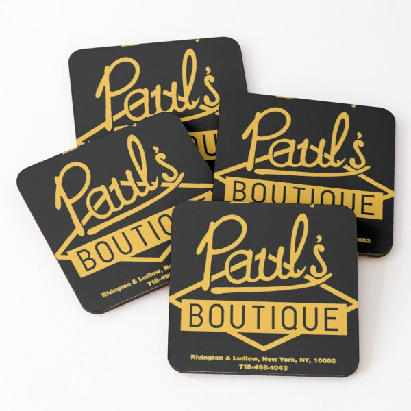 Paul'sx Boutique The Best in Men's Clothing. Diamond Logo (Gold) T-Shirt Coasters (Set of 4)