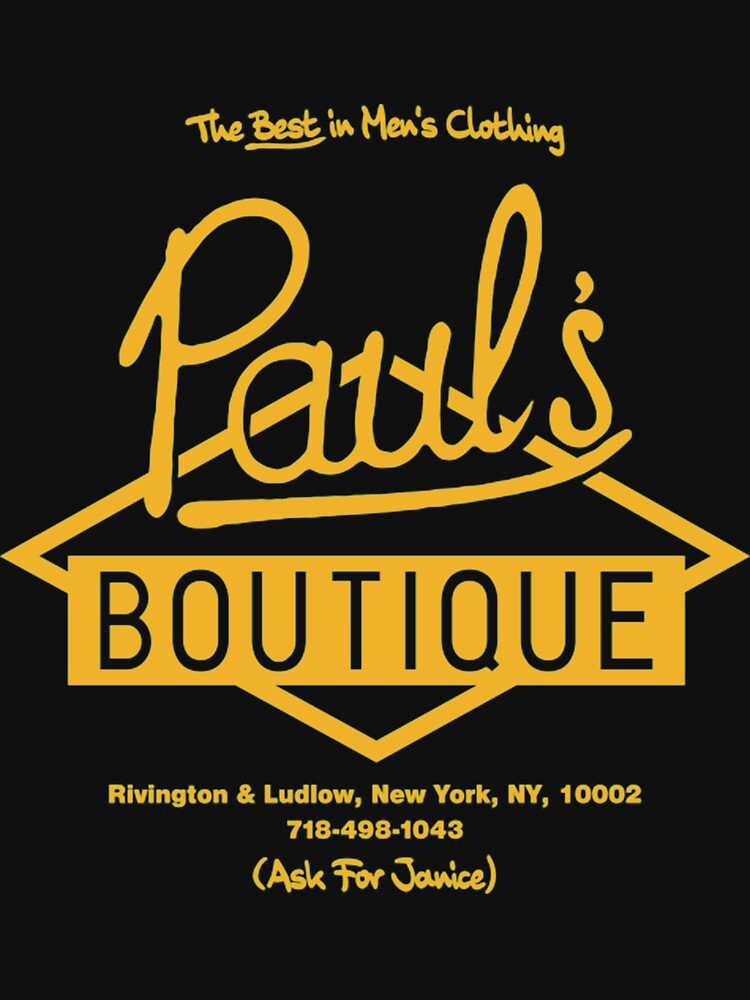 Paul'sx Boutique The Best in Men's Clothing. Diamond Logo (Gold) T-Shirt by hiphopw282