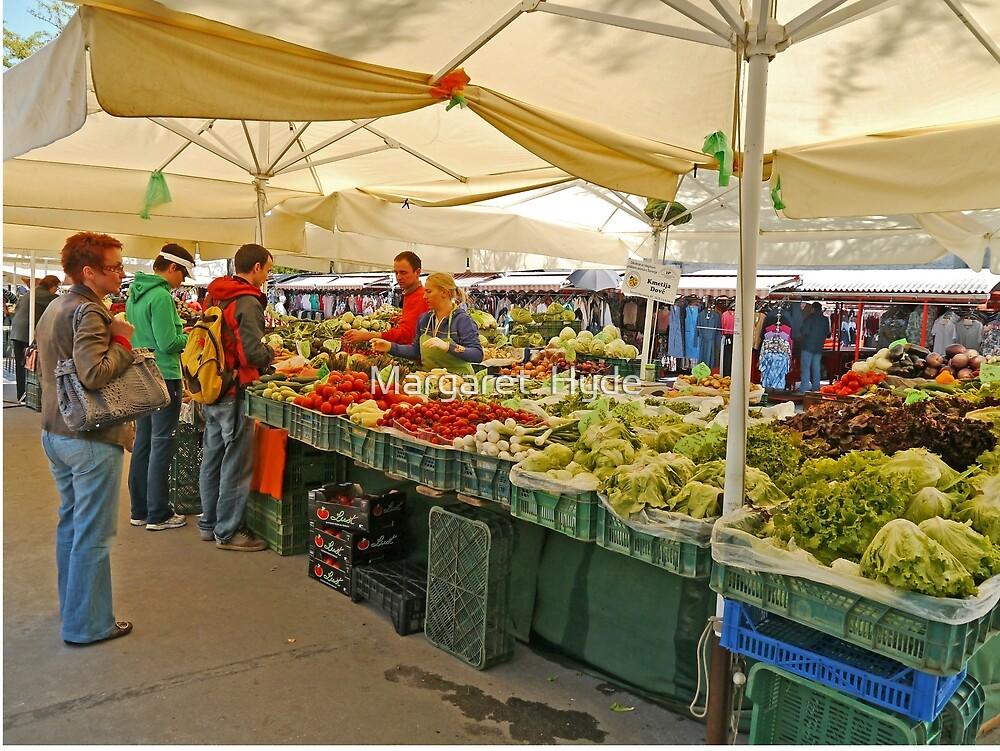 Fruit and Vegetable Stall, Ljubljana, Slovenia by Margaret  Hyde