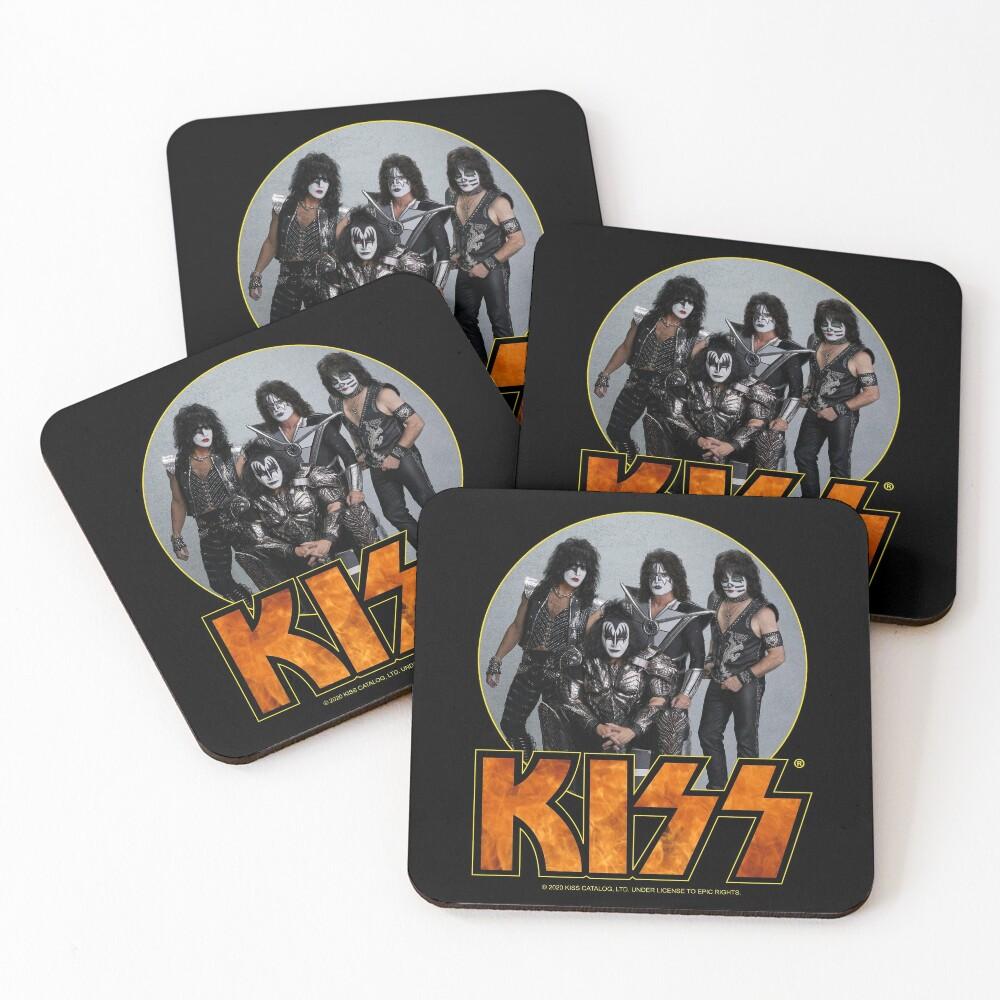 KISS Vintage Band Design Coasters (Set of 4)