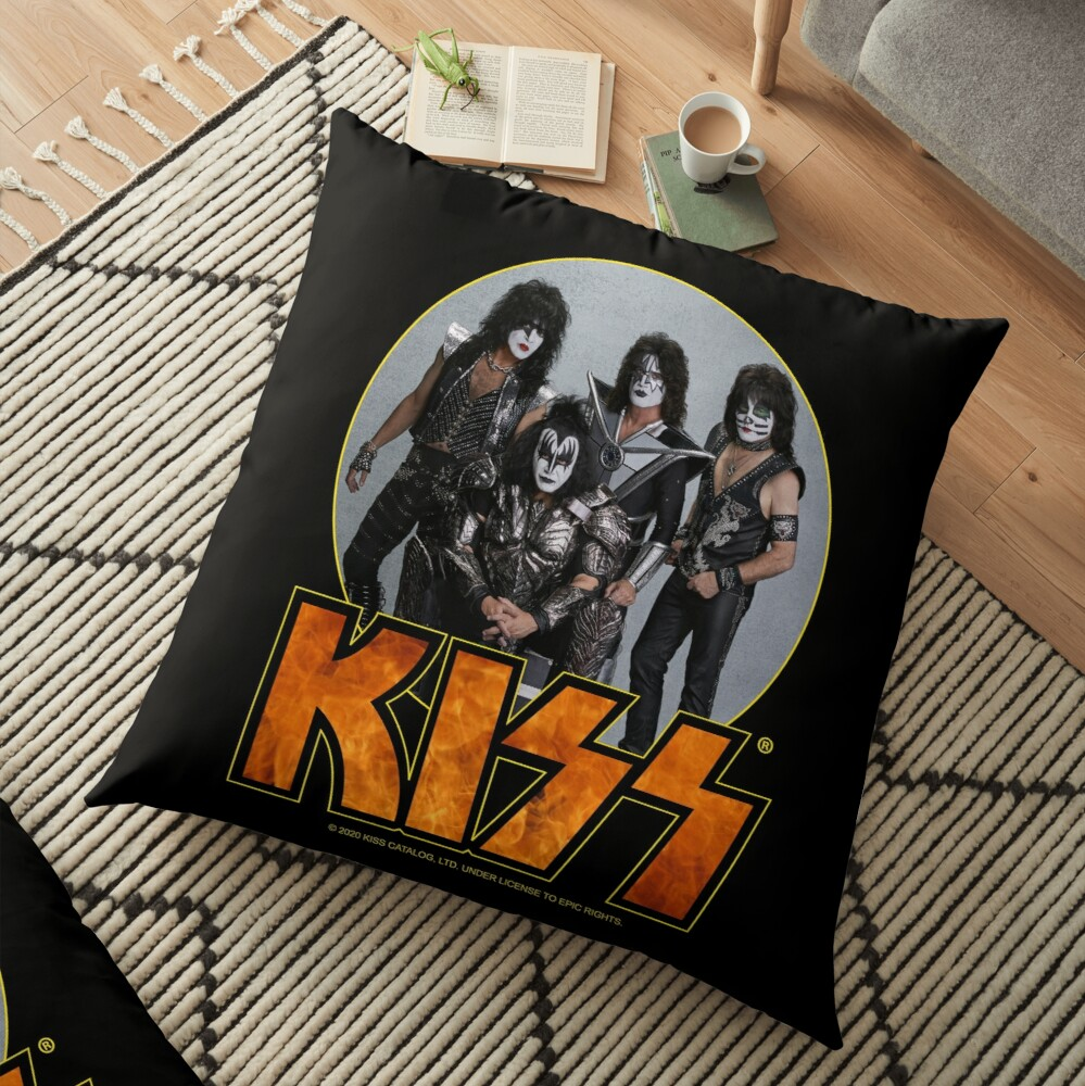 KISS Vintage Band Design Floor Pillow