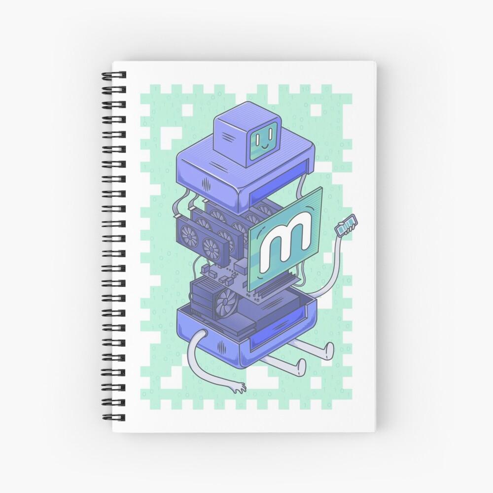 Anatomy of a Miner Spiral Notebook