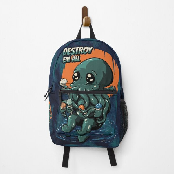 The Ice Cream Destroyer - Cute Baby Cthulhu | Necronomicon Lovecraft Funny Kids Mask | Food foodie snack dessert | Tie Dye Backpack (Updated) Backpack