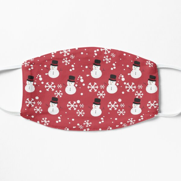 Snow Man (red background) Face Mask Mask