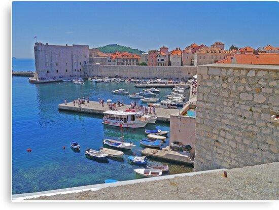 Port, Old Town, Dubrovnik, Croatia by Margaret  Hyde