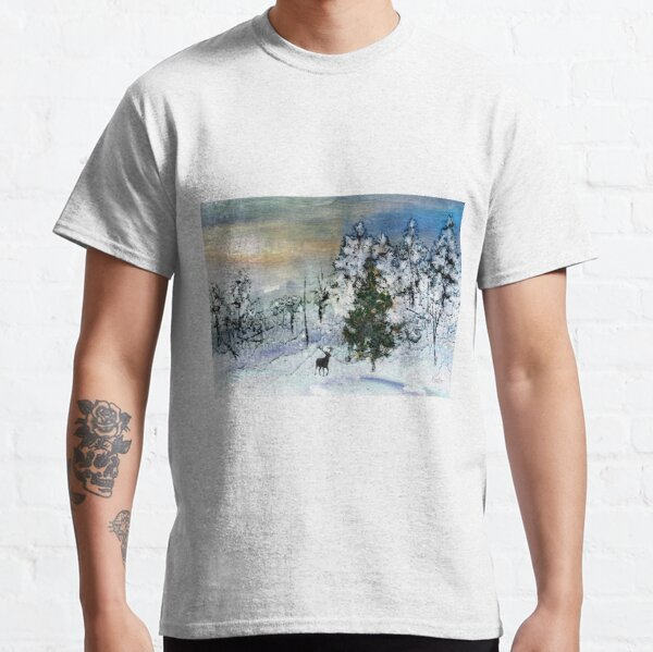 Deer in the snow... Classic T-Shirt
