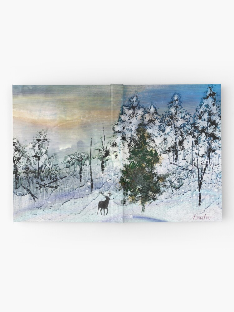 Alternate view of Deer in the snow... Hardcover Journal